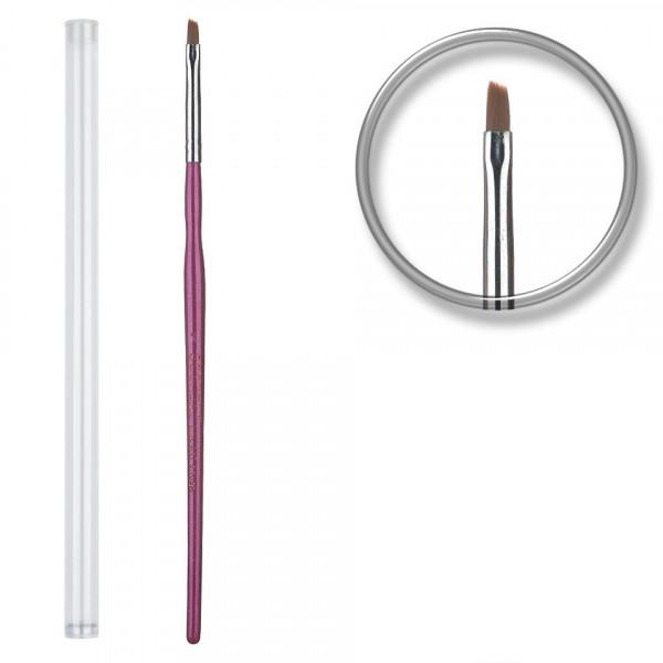 Poze Pensula unghii aplicare gel UV nr.1 cu etui tubular - Lilac
