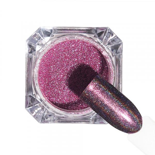 Poze Pigment unghii Holografic #141 cu aplicator - LUXORISE