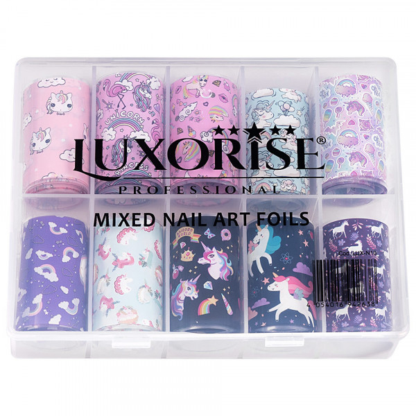 Poze Set Folii Transfer LUXORISE #26 Unicorn, 10 buc