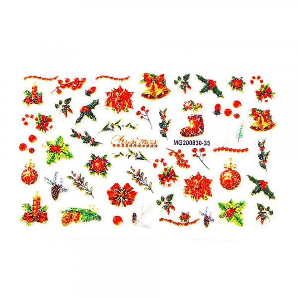 Poze Tatuaj 3D Unghii LUXORISE Winter MG200830-35