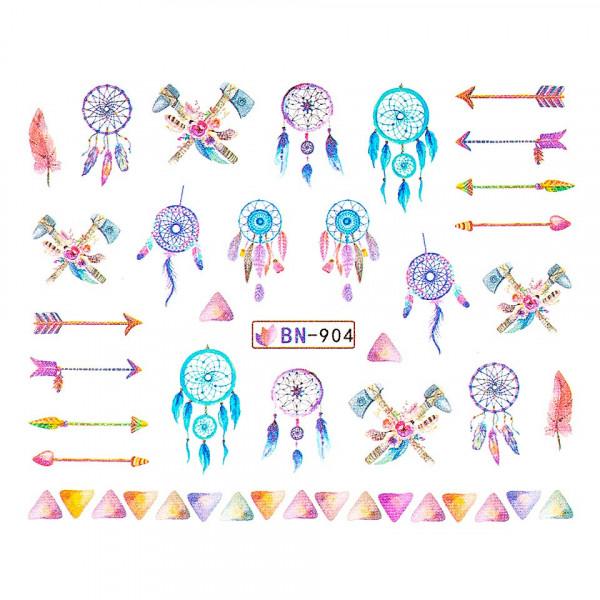 Poze Tatuaj unghii LUXORISE, Dream Catcher BN-904