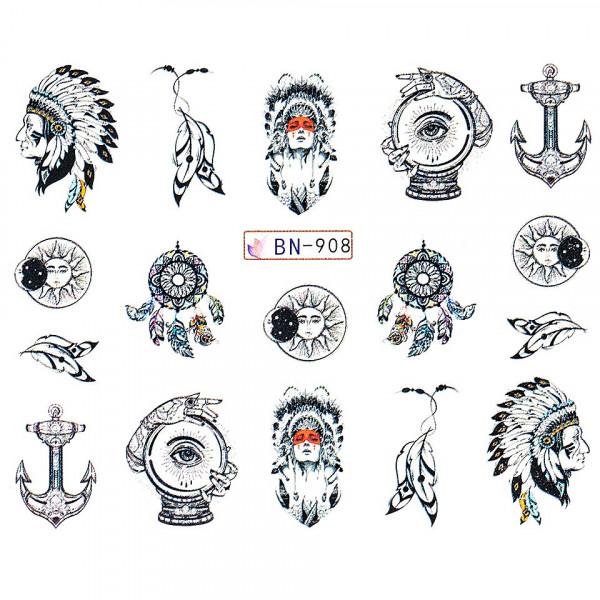 Poze Tatuaj unghii LUXORISE, Dream Catcher BN-908