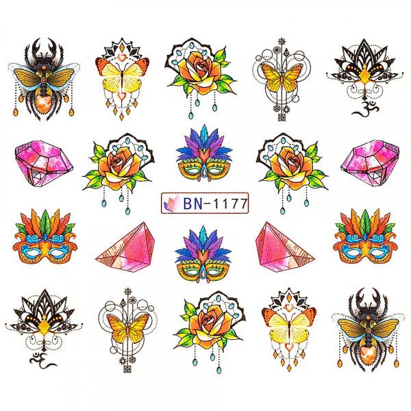 Poze Tatuaj unghii LUXORISE, Fantasy BN-1177