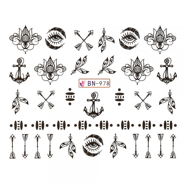Poze Tatuaj unghii LUXORISE, Fantasy BN-978