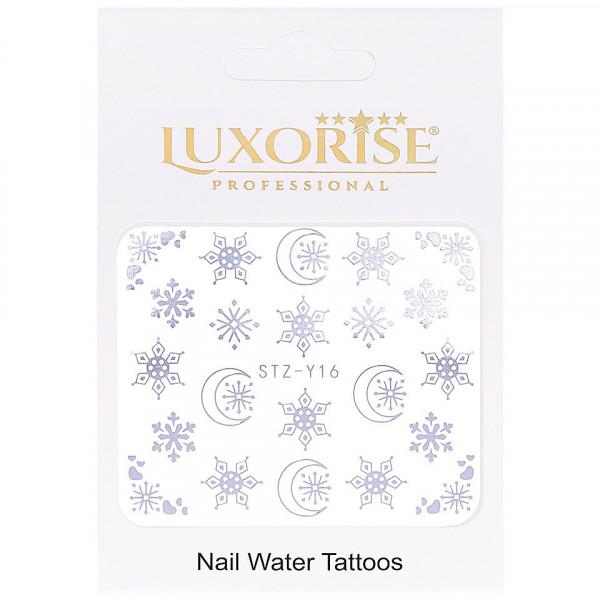 Poze Tatuaj unghii LUXORISE, Winter STZ-Y16 argintiu
