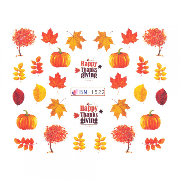 Poze Tatuaj unghii SensoPRO Autumn Challenge, model BN-1522