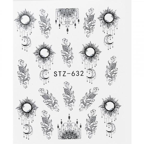 Poze Tatuaj unghii STZ-632 abstract