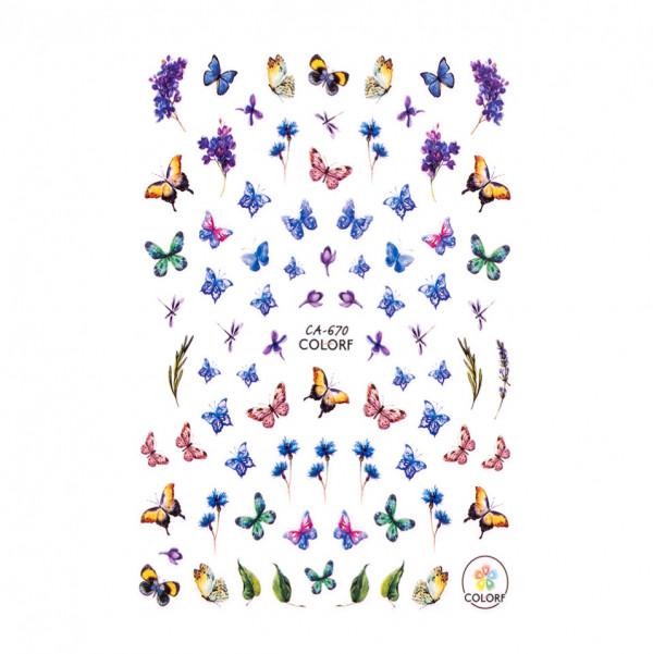 Poze Abtibilduri unghii SensoPRO Magic Butterfly, model CA670
