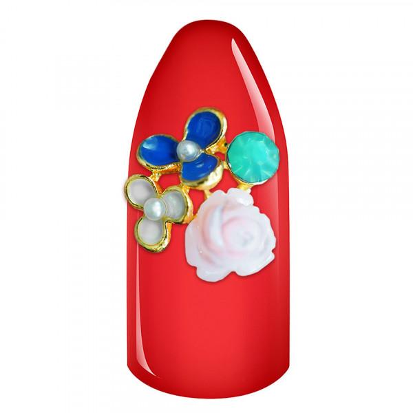 Poze Decoratiune Unghii 3D - Buchet Flori 01