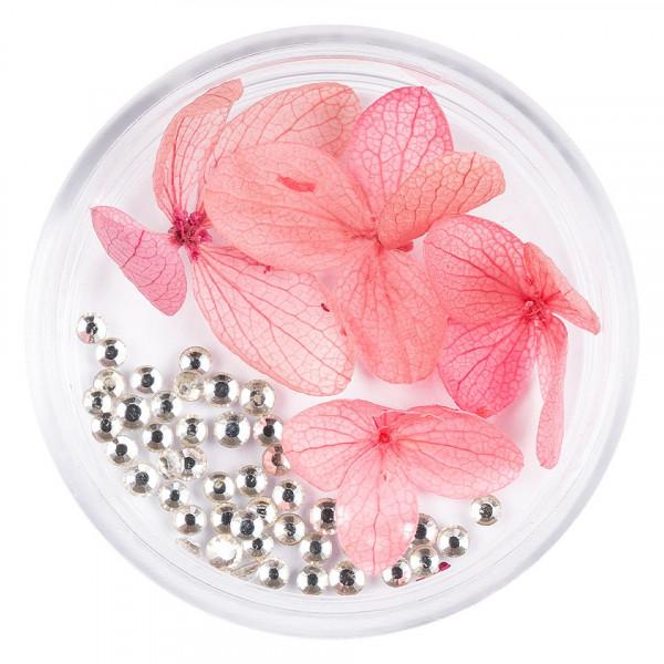 Poze Flori Uscate Unghii LUXORISE cu cristale - Floral Fairytale #01