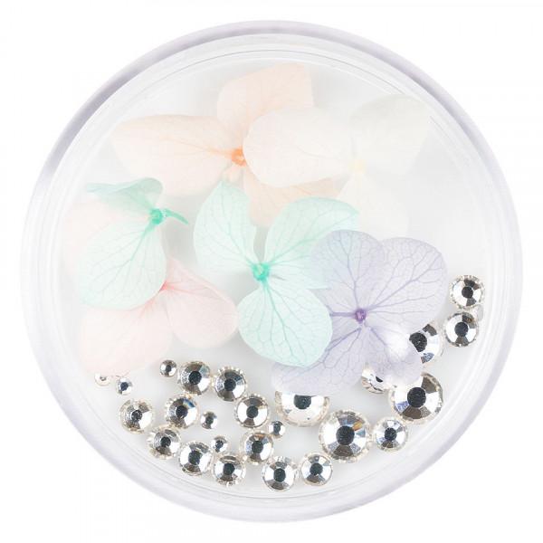 Poze Flori Uscate Unghii LUXORISE cu cristale - Floral Fairytale #11