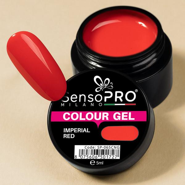 Poze Gel UV Colorat Imperial Red 5ml, SensoPRO Milano