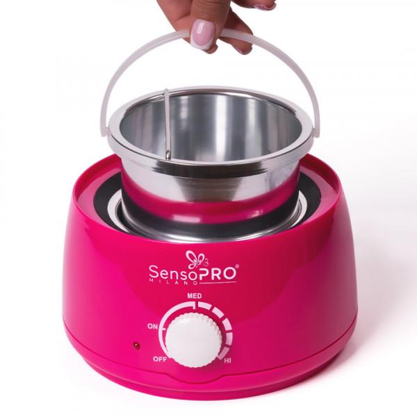 Poze Incalzitor Ceara Profesional PRO WAX 150 SensoPRO, roz, 500ml