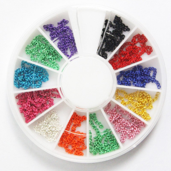 Poze Lantisor Unghii Vibrant Colors - Carusel Diverse Culori