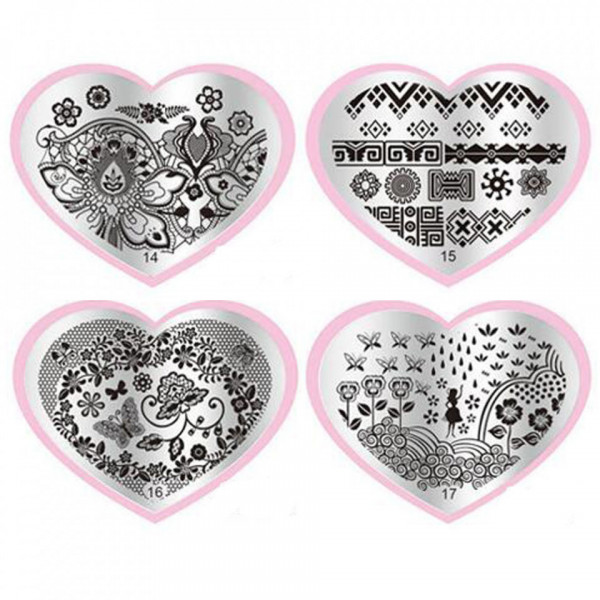 Poze Matrita Metalica Stampila Unghii Lilly - Nature Love Story