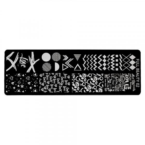 Poze Matrita Metalica Stampila Unghii LUXORISE, Geometric Art & Love