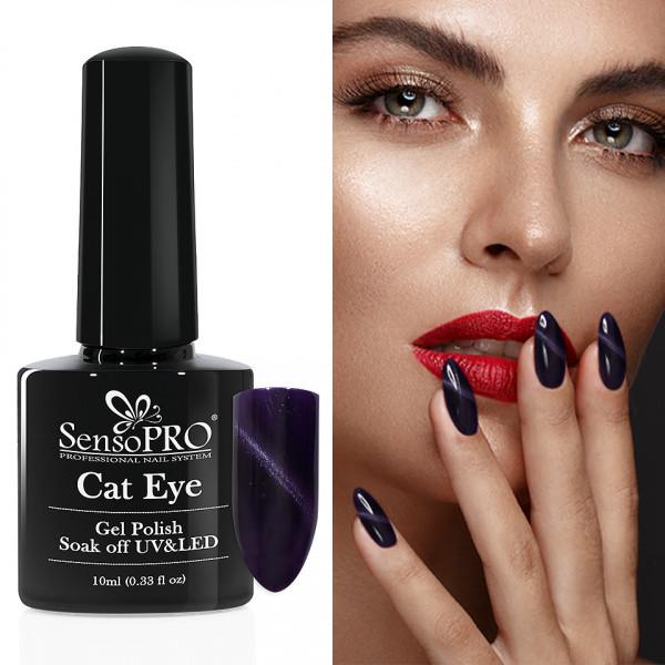 Poze Oja Semipermanenta Cat Eye SensoPRO 10ml - #024 DeepPurple