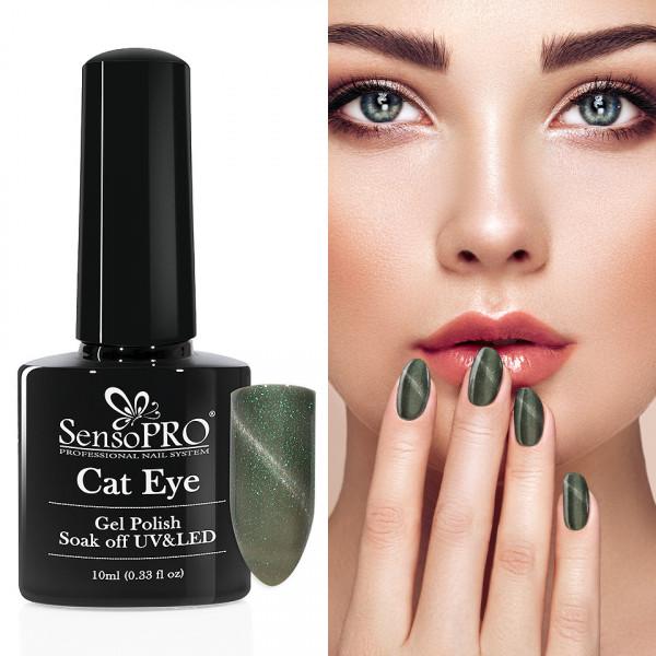 Poze Oja Semipermanenta Cat Eye SensoPRO 10ml - #033 Fairy Green