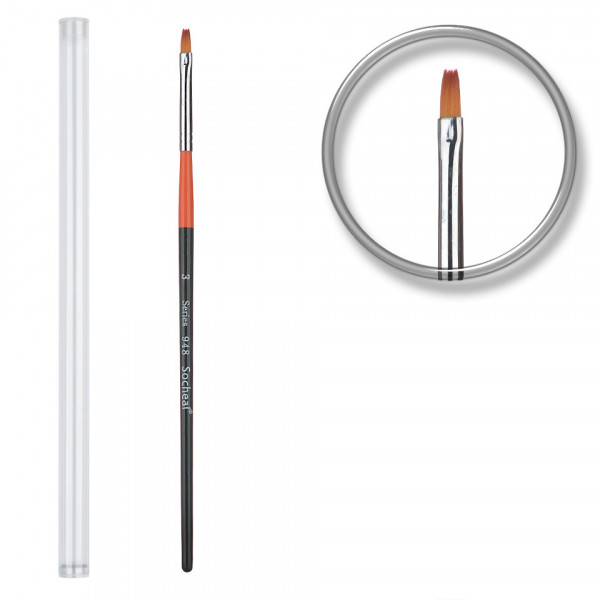 Poze Pensula unghii acryl nr.3 cu etui tubular - Orange Peel