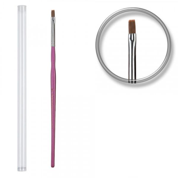 Poze Pensula unghii aplicare gel UV nr.3 cu etui tubular - Misty Purple