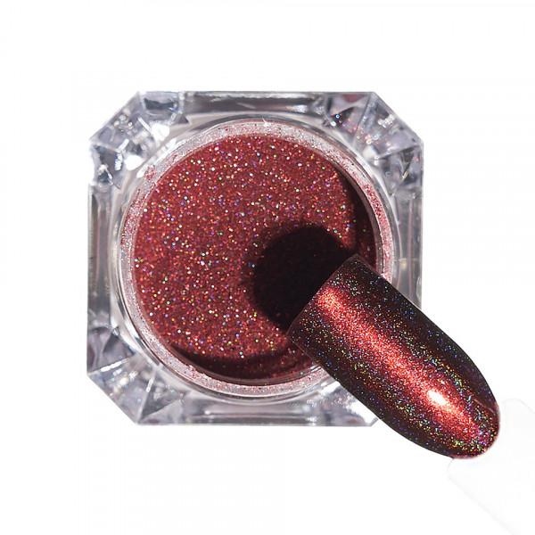 Poze Pigment unghii Holografic #144 cu aplicator - LUXORISE