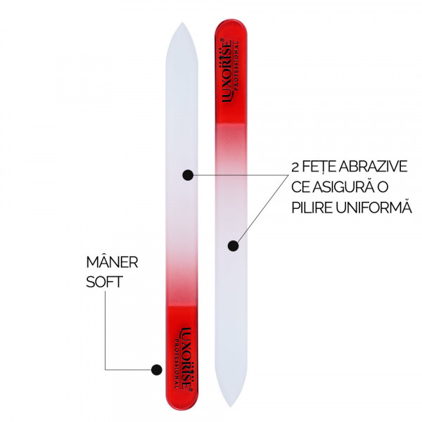 Poze Pila de Sticla Nano Glass File LUXORISE, rosu