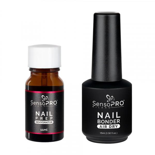 Poze Set Nail Prep Dehydrator + Nail Bonder Primer SensoPRO Milano