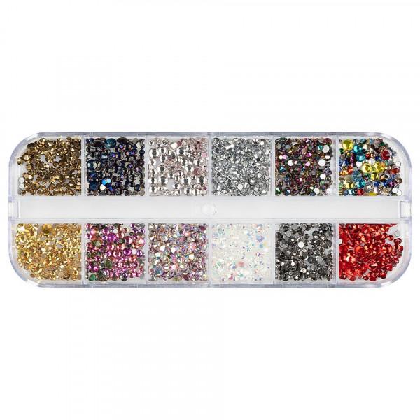 Poze Strasuri Unghii LUXORISE, Rainbow Crystals, 12 modele