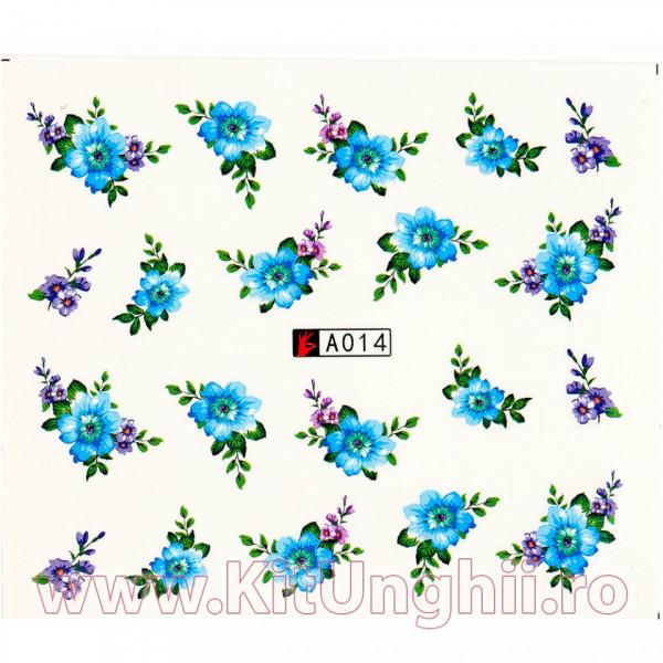 Poze Tatuaj unghii A014 flori