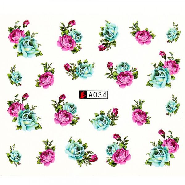 Poze Tatuaj unghii A034 flori
