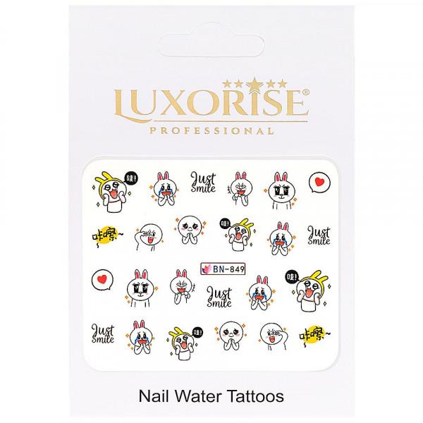 Poze Tatuaj unghii LUXORISE, Emotions BN-849