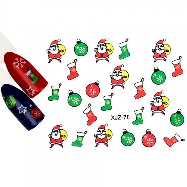 Poze Abtibild unghii XJZ-78 Atmosfera de Sarbatori – Asteptarea Cadourilor