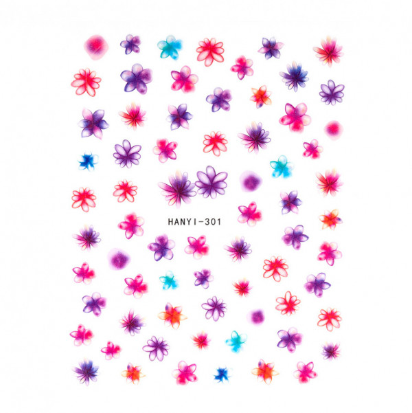 Poze Abtibilduri unghii SensoPRO Art in Bloom, model HANYI 301