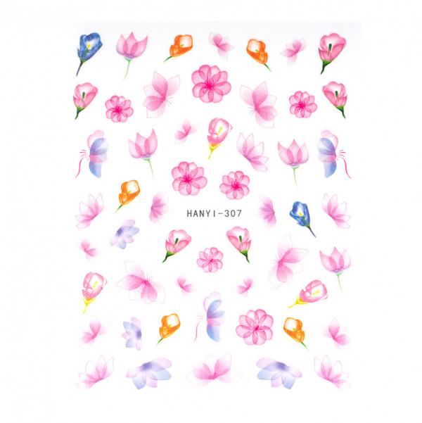 Poze Abtibilduri unghii SensoPRO Art in Bloom, model HANYI 307