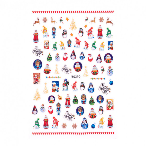 Poze Abtibilduri unghii SensoPRO Christmas, model WG390