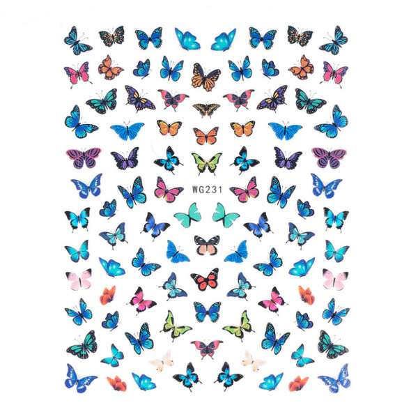 Poze Abtibilduri unghii SensoPRO Magic Butterfly, model WG231