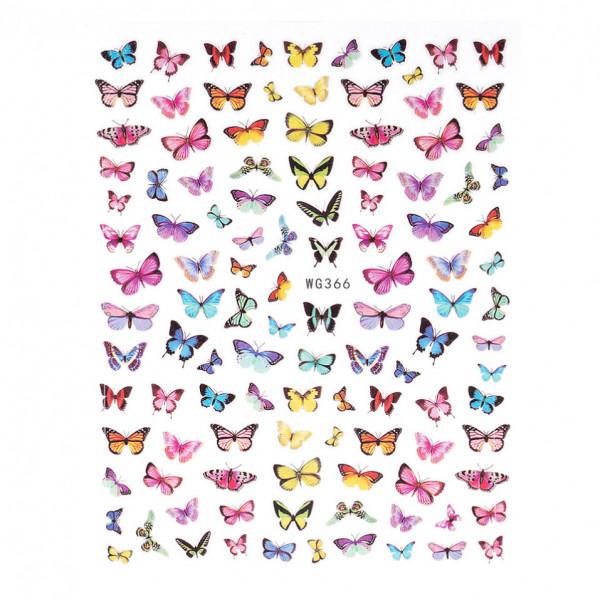 Poze Abtibilduri unghii SensoPRO Magic Butterfly, model WG366