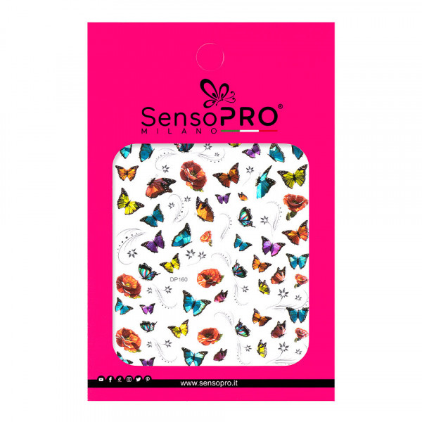 Poze Abtibilduri unghii SensoPRO Milano Butterfly, model DP160