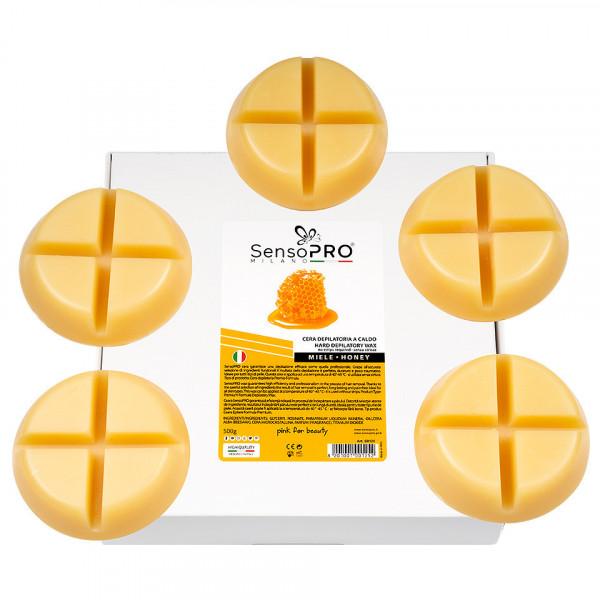 Poze Ceara Epilat Elastica Refolosibila SensoPRO Milano - Honey Hard Round Wax, 500g