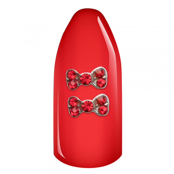 Poze Decoratiuni Unghii 3D - Fundita strasuri rosii set 2 bucati