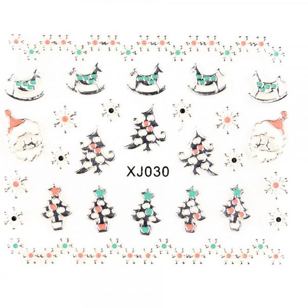 Poze Folie Sticker 3D unghii, model XJ030