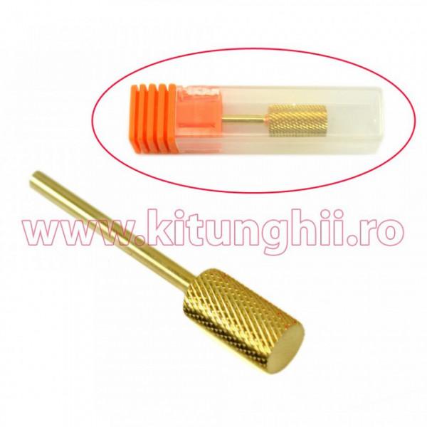 Poze Freza Carbid Cilindrica S-1 cu suport, duritate medie - Capat Freza Carbid Mediu