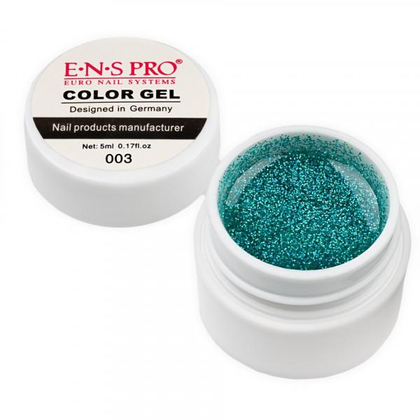 Poze Gel UV Color cu Sclipici ENS PRO #003 - Green Ice