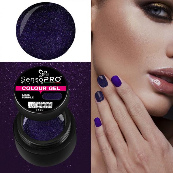 Poze Gel UV Colorat Luxe Purple 5ml, SensoPRO Milano