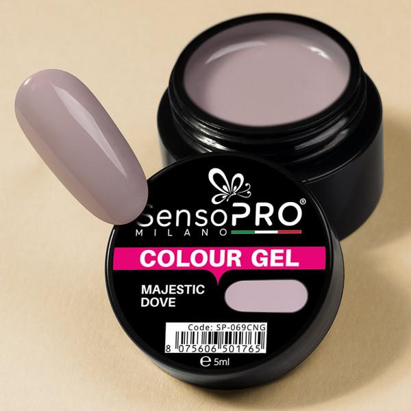 Poze Gel UV Colorat Majestic Dove 5ml, SensoPRO Milano