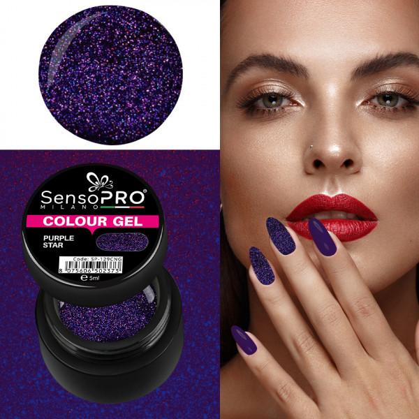 Poze Gel UV Colorat Purple Star 5ml, SensoPRO Milano