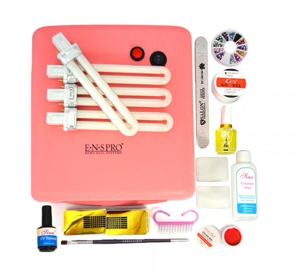 Poze Kit Unghii False cu Gel UV pentru Incepatori - Promotie #47 + CADOU Gel Color ENS PRO
