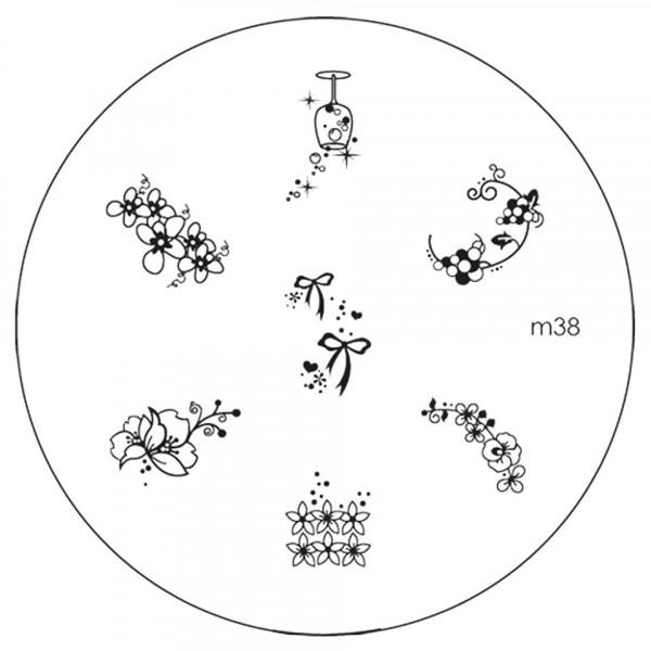 Poze Matrita Metalica Stampila Unghii M38 - Nature