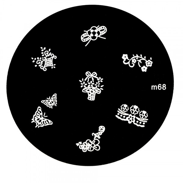 Poze Matrita Metalica Stampila Unghii M68 - Nature