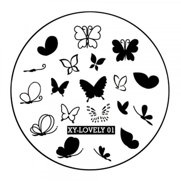 Poze Matrita Metalica Stampila Unghii XY-LOVELY01 - Nature